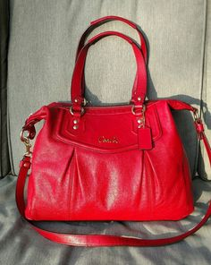 COACH ASHLEY Convertible Satchel Red leather Tote Purse Bag 20104 MSRP  398    Clothing, Shoes   Accessories, Women s Handbags   Bags, Handbags   Purses  ... 5d6af9ea9b