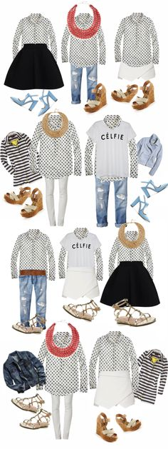 10 ways to wear a dotted top