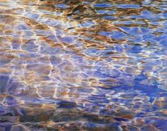 iridescent shimmer on water