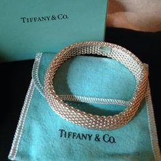 Authentic Tiffany Mesh Bracelet.