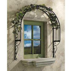 This would be awesome over tha back windows! Thornbury Ornamental Metal Garden Window Trellis