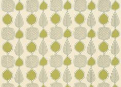 Wykeham Leaf Linen/Cotton Fabric, Olive For cool, contemporary interiors, our striking Wykeham print is a winner with its stylised leaf design. Suitable for curtains and blinds. 51% Linen, 49% Cotton.