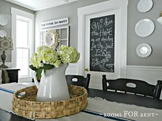 Woodsmoke - Glidden, Grey and White Dining room
