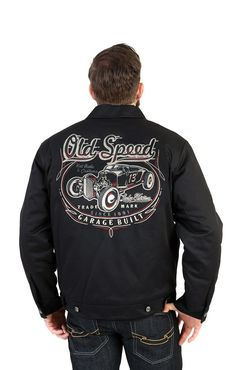 Velocitee Baseball Varsity Jacket The Outlaw Hotrod Hot Rod Rockabilly W15095