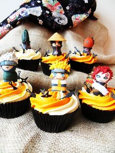 Naruto cupcakes - by GingerPops @ CakesDecor.com - cake decorating website