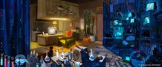 Early concept painting of Flint's apartment for #cloudy2. Layout by Justin Thompson.