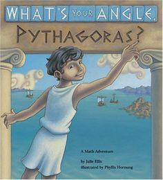 What's Your Angle, Pythagoras? A Math Adventure by Julie Ellis, http://www.amazon.com/dp/1570911509/ref=cm_sw_r_pi_dp_5.D4rb118HP78