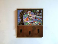 Mosaic key rack wall key rack entryway storage by TreetopWoodworks