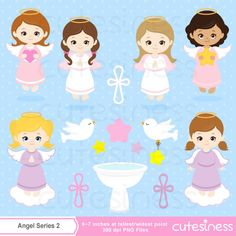 Angel Series 2 Digital Clipart :57 Graphics BEST Value    ----------------------- ★★ Package Included ★★-----------------------------------    *You