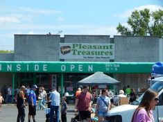 Along the way, you'll find some stops are located right outside of flea markets. Pictured is Pleasant Treasures in Hamilton, OH during last year's yard sale.