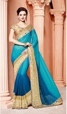 Sky Blue Color Silk Fabric Party Wear Saris Blouse | FH514178256  #party , #wear, #saree, #indian, #festive, #fashion, #online, #shopping, #designer, #usa, #henna, #boutique, #heenastyle, #style, #traditional, #wedding, #bridel, #casual, @heenastyle , #blouse, #prestiched, #readymade, #stiched , #lehegasaris, #sari, #saris