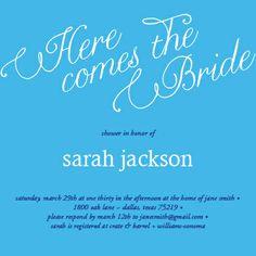 Here Comes the Bride Bridal Shower Invitation