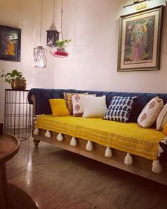 Ishita's Fusion Indian Home in Delhi - dress your home - best interior design. Home Decor Ideas, India Home Decor, Ethnic Home Decor, Home Decor Furniture, Home Decor Bedroom, Living Room Decor, Diy Room Decor, Home Room Design, Home Interior Design
