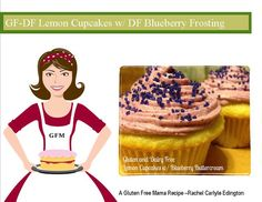 GFDF Lemon Cupcakes with Blueberry Buttercream Frosting Gluten Free Mamas Blog