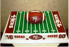 49ers groom cake