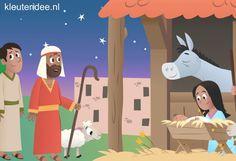Interactieve praatplaat kerst voor kleuters, met allerlei informatieve filmpjes over het kerstfeest.
