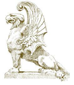 Art / Architecture / Element / Ancient Sculpture Typography Drawing, Dragons, Renaissance Architecture, Building Art, Antique Illustration, Classical Art, Types Of Art, Mythical Creatures, Art Inspo