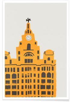 Liver Building as Premium Poster by Fox & Velvet   JUNIQE UK
