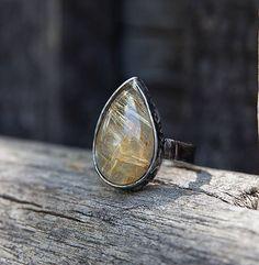 gabi111 / Sagenit - prsteň - kvapka