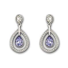 89bf4f097 Swarovski Mila Provence Lavender Pierced Earrings Pierced Earrings,  Swarovski, Catalog, Stud Earrings,