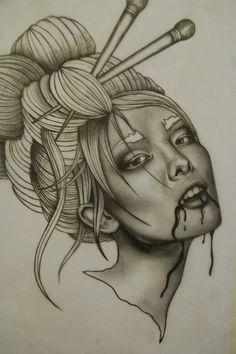 Geisha.  #tattoo #tattoos #ink #vagabondco #loveleeink