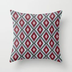 Joie De Vivre Throw Pillow by Katie Wohl | Society6