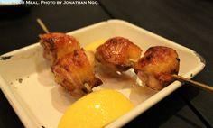 Chicken Oyster Yakitori with Sea Salt and Lemon at Yardbird Hong Kong