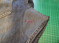Two methods to fix the crotch on jeans! (in Portuguese)
