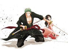 Roronoa Zoro and Tashigi