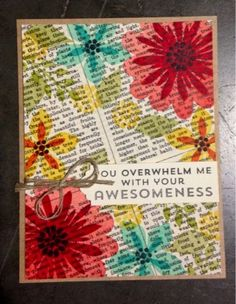 (I like the book paper at an angle. Sue) Creativity Within : Creation Station Blog Hop - Flower Patch