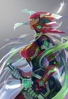 Female Zero, Mega Man X / Mega Man Zero series artwork  by T-Tom.                                                                                                                                                     Más