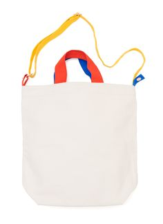 ALL Knitwear + BAGGU Canvas Color Block Duck Bag www.BAGGU.com