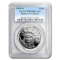1998 W 1 oz Proof Platinum American Eagle PR-70 PCGS 1 OZ PF70 PCGS >>> Check out this great product.