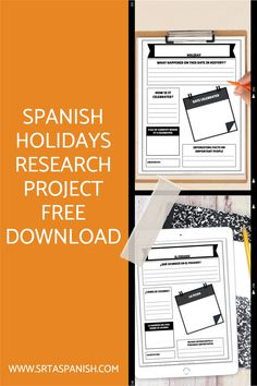 This is a great way to get your students engaged in learning about culture and geography! Explore holiday celebrations in the Spanish-speaking world with this FREE download! Great, no prep research lesson for your Spanish students! Perfect for learning about festivals, celebrations, and cultural traditions around the Spanish-speaking world. Click the link to learn more and download! Spanish 1, How To Speak Spanish, Spanish Classroom, Teaching Spanish, Research Poster, Spanish Holidays, Middle School Spanish, Engage In Learning, Spanish Lesson Plans