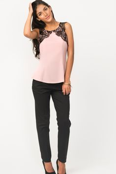 Fit & Flare Lace Top