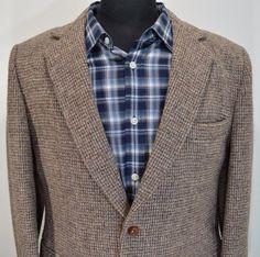 MINT BROOKLEIGH mens 2 btn HARRIS TWEED HUNTING sport coat blazer 42R 42 regular #brookleigh #TwoButton