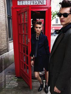 the new brit rules: daria pleggenkuhle, james and kurt by walter chin for uk glamour.