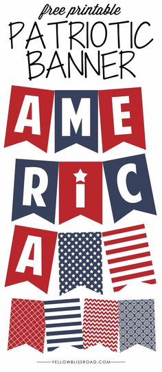 Free Printable Patriotic Banner