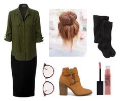 """""""Casual Choir Day"""" by alicelilianrose on Polyvore featuring Victoria Beckham, LE3NO, Steve Madden, CÉLINE, Maybelline and Smartwool"""