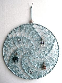 Dream Catcher Earring Holder photo only I was going to do a regular dream catcher earring 8