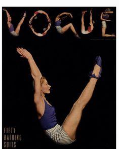 """Anne Buur studio på Instagram: """"VOGUE cover, 1. juni 1940 🧘♀️ Hvor cool er dette cover ikke lige?! 🖤 #annebuurstudio #vogue #voguearchives #yogadanmark #yogadk…"""""""