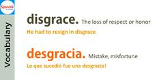 Don't be tricked by English- false cognates: deception / decepción Spanish Cognates, Spanish Vocabulary, False Friends, Spanish English, How To Speak Spanish, Idioms, Learning Spanish, Spelling, Education