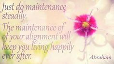 Maintenance of alignment