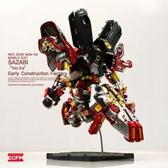 1/100 Sazabi Ver. Ka Early Construction Factory Model [Open Hatch] - Custom Build     Modeled by Acoustic