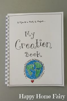 Make a book to go with the story of creation.  I love the song in this book!