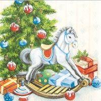2061 Servilleta decorada Navidad