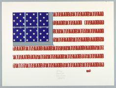 This poster of an American Flag was designed by Kastonie and dates back to 1991. The Cooper Hewitt acquired the poster in 1993. The medium of the piece is screenprint on white heavy paper and is part of the Drawings, Prints, and Graphic Design Department. #FlagDay