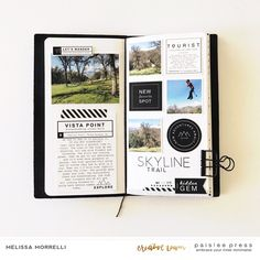 Layout created using products from from Paislee Press. Diary Planner, Planner Layout, Planner Ideas, Sketchbook Inspiration, Journal Inspiration, Planners, Bujo, Bullet Journal Aesthetic, Black And White Design