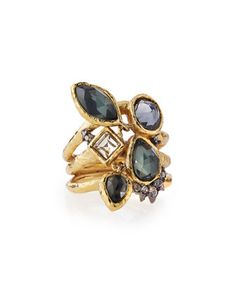 Shake+Faceted+Pyrite+Ring+by+Alexis+Bittar+at+Neiman+Marcus.