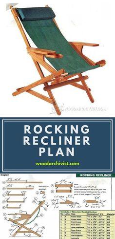 Rocking Recliner Plans - Outdoor Furniture Plans & Projects | WoodArchivist.com